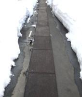 融雪マット使用場面